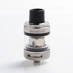 Authentic Vaporesso NRG PE Sub Ohm Tank Clearomizer - Silver, Stainless Steel + Glass, 3.5ml, 0.15ohm / 0.5ohm, 25mm Diameter