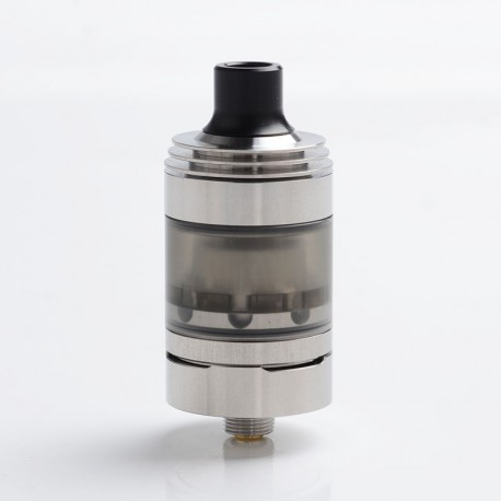 Hussar Style RTA V1.5 Rebuildable Tank Vape Atomizer - Silver, Stainless Steel, 22mm Diameter