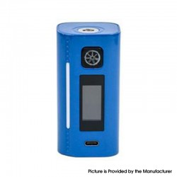 Authentic Asmodus Lustro 200W Touch Screen TC VW Variable Wattage Vape Box Mod - Navy Blue, 5~200W, 2 x 18650