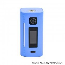 Authentic Asmodus Lustro 200W Touch Screen TC VW Variable Wattage Vape Box Mod - Baby Blue, 5~200W, 2 x 18650
