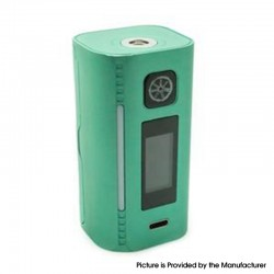 Authentic Asmodus Lustro 200W Touch Screen TC VW Variable Wattage Vape Box Mod - Teal, 5~200W, 2 x 18650
