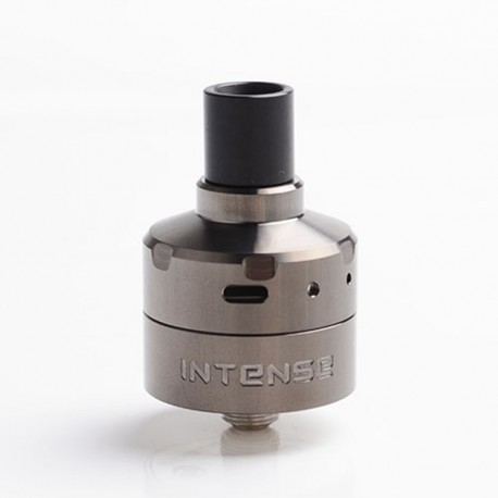 Authentic Damn Vape Intense DL / MTL RDA Rebuildable Dripping Vape Atomizer w/ BF Pin - Gunmetal, Stainless Steel, 24mm Diameter