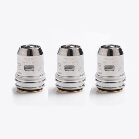 Authentic SMOKTech SMOK Dual Mesh Coil Head for TFV16 Lite Vape Tank - Silver, 0.15ohm (60~90W) (3 PCS)