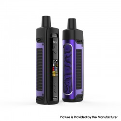 Authentic IJOY Jupiter 70W VW Box Mod Pod System Vape Starter Kit - Purple, 0.2ohm / 0.6ohm, 5~70W, 1 x 18650