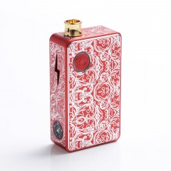 Authentic Ohm Vape AIO 42W Box Mod Pod System Starter Kit - Red, 1 x 18650, Engraved Version