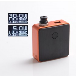[Ships from Battery Warehouse] Authentic SXK Bantam Revision 30W VW Vape Box Mod Kit w/ 18350 Battery - Orange, 5~30W, 1 x 18350