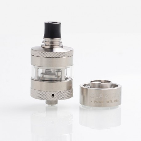 [Ships from Germany] Authentic Steam Crave Glaz Mini MTL RTA Rebuildable Tank Atomizer - Silver, Stainless Steel, 23mm Diameter