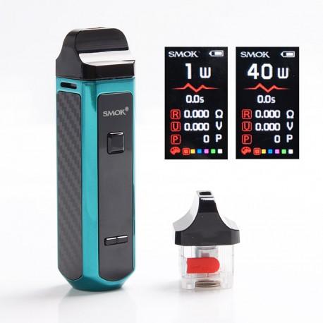 Authentic SMOKTech SMOK RPM40 40W 1500mAh VW Mod Pod System Starter Kit - Tiffany Blue, 1~40W, 0.4ohm / 0.6ohm