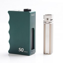 Authentic Dovpo Topside SQ Squonk BF Mechanical Box Mod - Green, Aluminium, 12.5ml