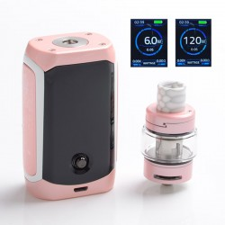 Authentic Innokin Proton Mini Ajax 120W 3400mAh TC VW Box Mod + Ajax Tank Atomizer Kit - Pink Chrome, 2ml / 5ml, 6~120W