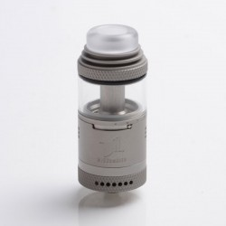 Authentic Vandy Vape Widowmaker RTA Rebuildable Vape Tank Atomizer - Frosted Grey, Stainless Steel + Glass, 6ml, 25mm Diameter