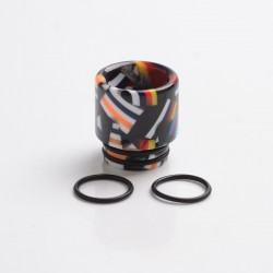 Authentic Reewape AS162 Replacement 810 Drip Tip for SMOK TFV8/TFV12 Tank/Goon/Kennedy RDA - Black + Multiple Color, Resin, 17mm