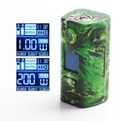 Authentic Hugo Vapor Rader ECO 200W VV VW Variable Wattage Box Vape Mod - Green Storm, Zinc Alloy + ABS + SS, 1~200W, 2 x 18650