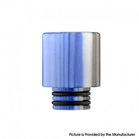 Replacement Wide Bore 510 Drip Tip for RDA / RTA / RDTA / Sub-Ohm Tank Vape Atomizer - Type C, Delrin, 17mm