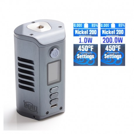 Authentic Dovpo Odin DNA250c 200W TC VW Variable Wattage Box Mod - Blue Steel, Aluminium, 1~200W, 2 x 21700