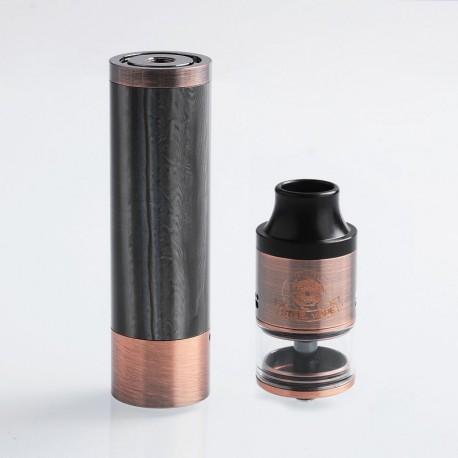 Authentic Steel Vape Tailspin Hybrid Mechanical Mod + RDTA Vape Kit - Copper, Brass + Stainless Steel, 1 x 18650, 4ml, 25mm Dia.