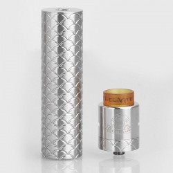 Authentic Steel Vape Sebone Hybrid Mechanical Mod + RDA Vape Kit - Silver, Stainless Steel, 1 x 18650, 24mm Diameter