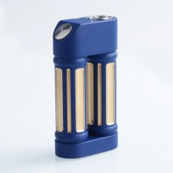 Authentic Steel Vape Sanctuary Mechanical Box Vape Mod - Blue, Aluminum + Brass + Stainless Steel, 2 x 18650