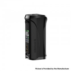 Authentic Innokin Kroma-R Zlide 80W VV VW Variable Wattage Box Vape Mod - Black, Zinc Alloy, 6~80W, 1 x 18650