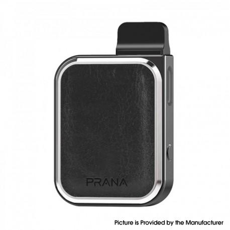 Authentic Lost Vape Prana 12W 500mAh Pod System Vape Starter Kit - Black Leather, Zinc Alloy, 1.0ml, 1.0ohm