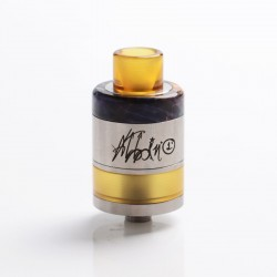 Authentic ULTRONER Gather MTL / DTL RDA / RDTA Dripping Tank Vape Atomizer - Silver + Random Color Stabwood, SS, 22mm Diameter