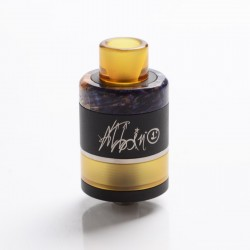 Authentic ULTRONER Gather MTL / DTL RDA / RDTA Dripping Tank Vape Atomizer - Black + Random Color Stabwood, SS, 22mm Diameter