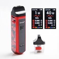 Authentic SMOKTech SMOK RPM40 40W 1500mAh VW Mod Pod System Starter Kit - PET Red Camouflage, 1~40W, 0.4ohm / 0.6ohm