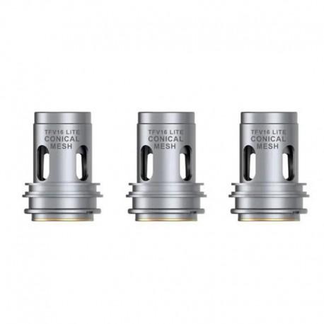 Authentic SMOKTech SMOK Conical Mesh Coil Head for TFV16 Lite Vape Tank - Silver, 0.2ohm (60~85W) (3 PCS)