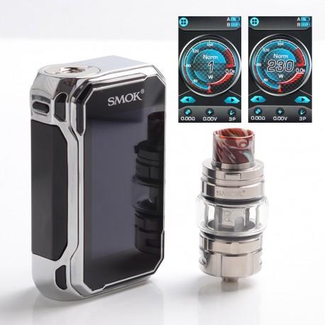 Authentic SMOKTech SMOK G-Priv 3 230W TC VW Box Mod Vape Kit w/ TFV16 Lite Tank Atomizer - Prism Chrome, 1~230W, 2 x 18650