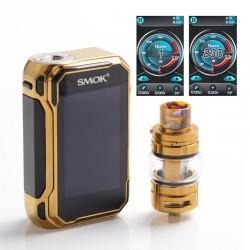 Authentic SMOKTech SMOK G-Priv 3 230W TC VW Box Mod Vape Kit w/ TFV16 Lite Tank Atomizer - Prism Gold, 1~230W, 2 x 18650