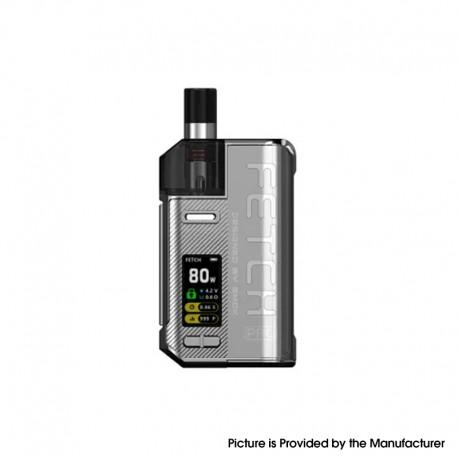 Authentic SMOKTech SMOK Fetch Pro 80W VW Mod Pod System Vape Starter Kit - Silver, 4.3ml, 5~80W, 1 x 18650 (Standard Version)