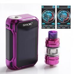 Authentic SMOKTech SMOK G-Priv 3 230W TC VW Box Mod Vape Kit w/ TFV16 Lite Tank Atomizer - Purple Red, 1~230W, 2 x 18650