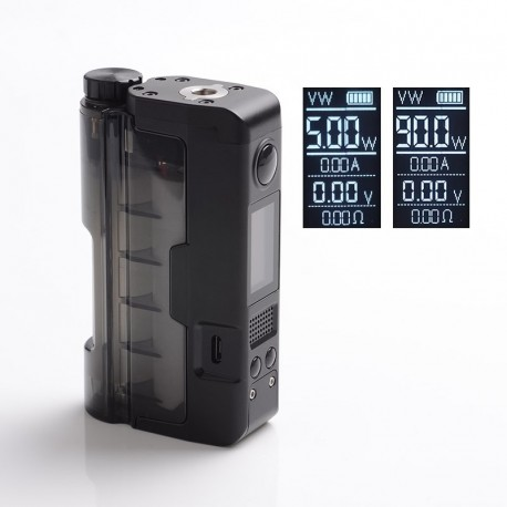 [Ships from Germany] Authentic Dovpo x Brian Topside Lite 90W TC VW Vape Squonk Box Vape Mod - Black, 5~90W, 1 x 20700 / 21700