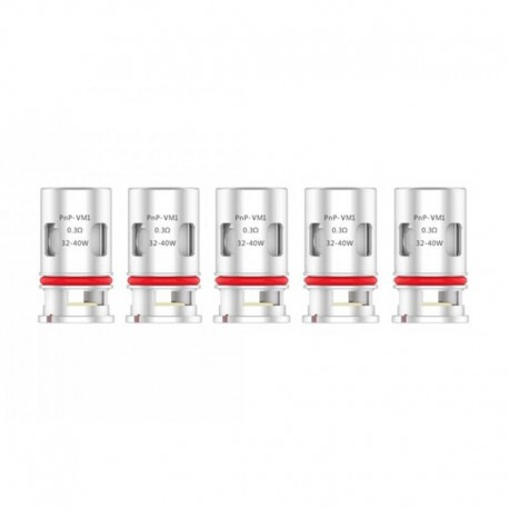 [Ships from Germany] Authentic Voopoo PnP-VM1 DL Single Mesh Coil Head for VINCI Mod Pod - Silver, 0.3ohm (32~40W) (5 PCS)
