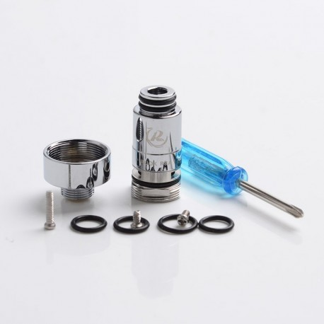 [Ships from Germany] Authentic Reewape RUOK RBA Coil Head with 510 Connector Adapter for Geekavpe Aegis Boost Pod Kit - Silver