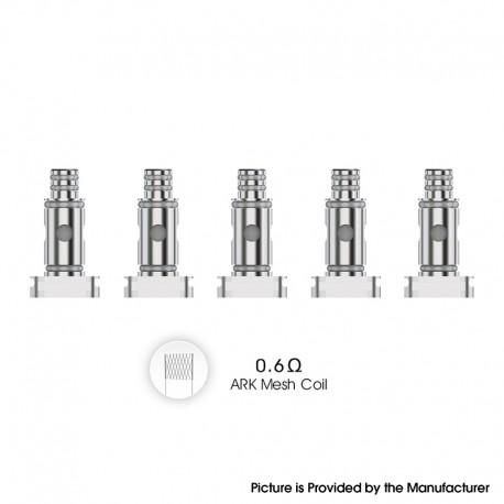 Authentic VOZOL Ark Pod System Vape Kit / Cartridge Replacement DL Mesh Coil Head - Silver, 0.6ohm (5 PCS)