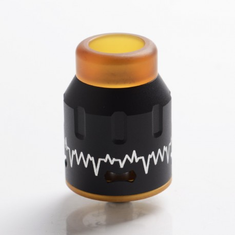 Authentic Steel Vape ECG Bottom Feeder RDA Rebuildable Dripping Vape Atomizer w/ BF Pin - Black, Stainless Steel, 24mm Diameter