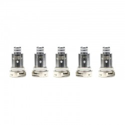 Authentic VapeSoon Replacement Ceramic Coil Head for SMOK Nord / Trinity Alpha /Fetch Mini Pod Vape Kit - Silver, 1.4ohm (5 PCS)
