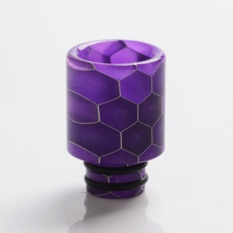 Replacement Drip Tip for GeekVape Aegis Boost Pod System Vape Kit - Purple, Resin, 16.5mm