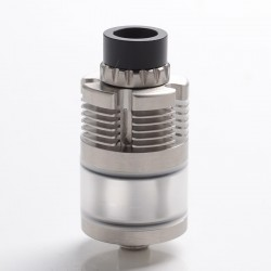 YFTK In'Ax V5 Style DL RTA Rebuildable Tank Vape Atomizer - Silver, 316 Stainless Steel + PC, 3ml, 22mm Diameter