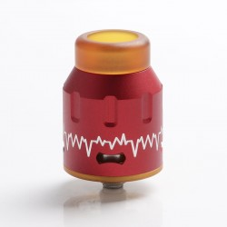Authentic Steel Vape ECG Bottom Feeder RDA Rebuildable Dripping Vape Atomizer w/ BF Pin - Red, Stainless Steel, 24mm Diameter