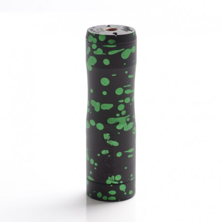 Authentic Timesvape Dreamer V1.5 Hybrid Mechanical Mech Vape Mod - Black + Green Splatter, Copper, 1 x 18650 / 20700 / 21700