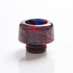 Authentic Mechlyfe Ratel XS 80W Rebuildable AIO Pod Vape Kit Replacement 510 DTL Drip Tip - Red, Resin, 11mm