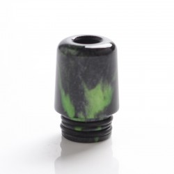 Authentic Mechlyfe Ratel XS 80W Rebuildable AIO Pod Vape Kit Replacement 510 MTL Drip Tip - Green, Resin, 18mm
