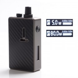 Authentic Mechlyfe Ratel XS 80W TC VW DL / MTL Rebuildable AIO Pod Vape Kit - Gun Metal & Carbon Fiber, 5.5ml, 5~80W, 1 x 18650