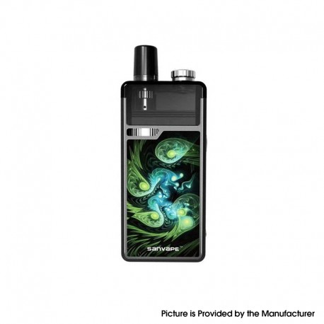 Authentic Sanvape Q8 Pro 40W 1620mAh MTL / DTL VV VW Mod Pod System Vape Starter Kit - Green, 0.4ohm / 1.2ohm, 4.5ml, 5~40W