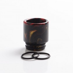 Authentic Reewape AS116 810 Drip Tip for SMOK TFV8 / TFV12 Tank / Kennedy / Battle / CSMNT Cosmonaut / Reload RDA - Black, Resin