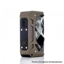 Authentic Sigelei Humvee 215W TC VW Variable Wattage Box Vape Mod - Camouflage Khaki, 100~300'C / 200~570'F, 5~215W, 2 x 18650