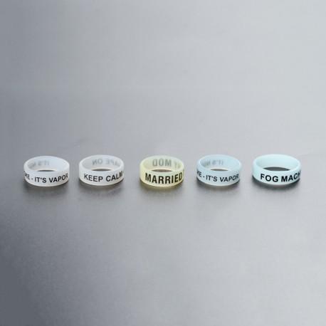 Replacement Noctilucent Anti Slip Silicone Band for E-Cigarette /Pod Vape Kit/Vape Mod Kit - Random Color, 20mm Diameter (5 PCS)