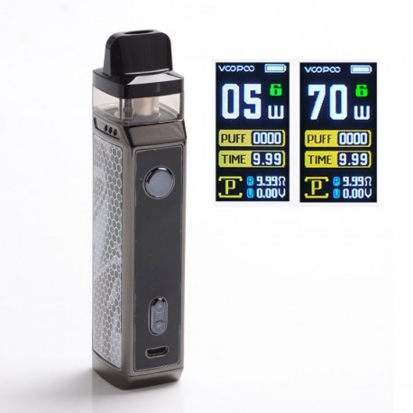 Authentic VOOPOO VINCI X 70W VW Box Mod Pod System Vape Starter Kit with 5 PnP Coils - Ink, 0.3ohm / 0.6ohm, 5~70W, 1 x 18650